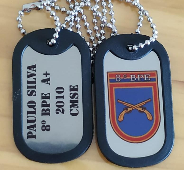 Dog-tag-Dogtag-8º-Batalhão-de-policia-do-exército