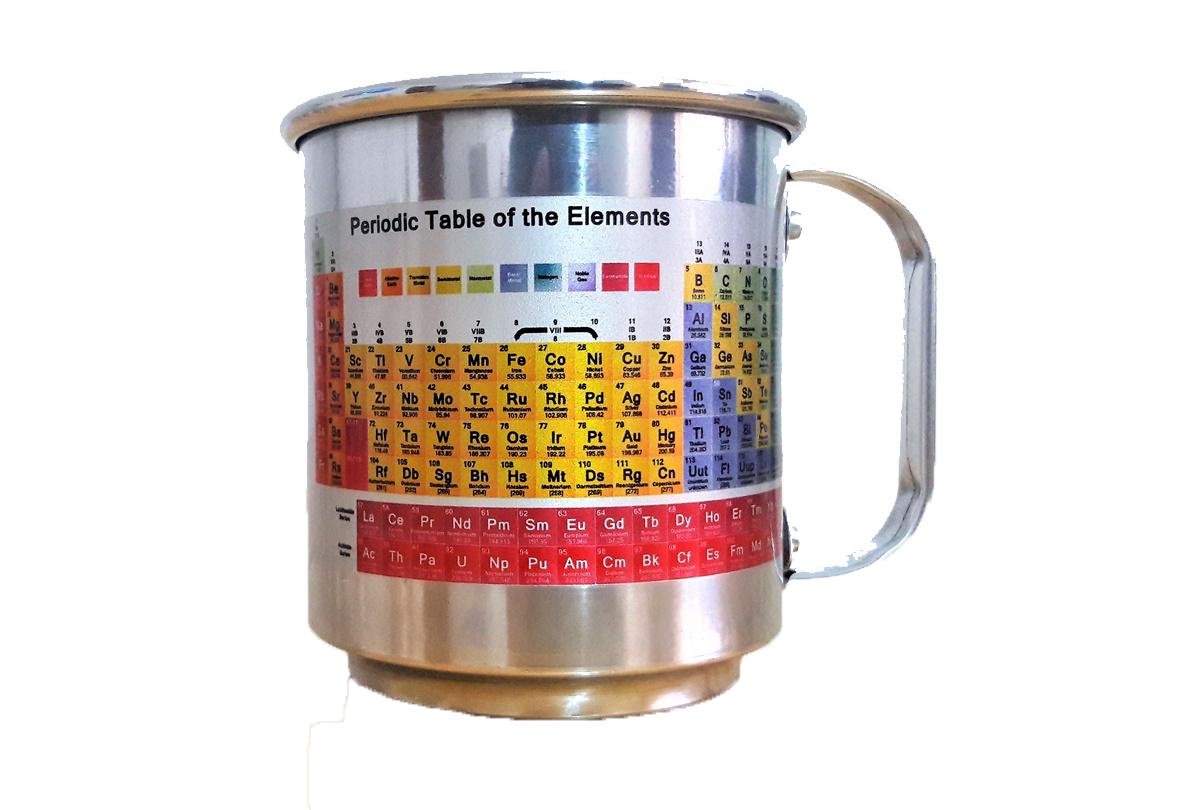 Caneca de Alumínio Metal 400 Ml - Tabela Periódica Químicos Químicas 83201e63e0c