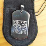 placa-plaqueta-dogtag-grossa-aço-inox-316L-gravação-QRcode-150x150